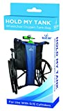 Blue Jay Hold My Tank Wheelchair Oxygen Tank Bag - Use With D/E Cylinders, Fits Any Wheelchair, Easy-To-Adjust Quick Release Buckles, Extra Long Straps. Respiratory Aids