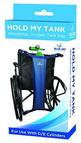 Blue Jay Hold My Tank, Wheelchair Oxygen Tank Bag, For Use With D/E Cylinders, Easy-To-Adjust Quick Release Buckles, Extra Long Straps To Fit Any Wheelchair, Crafted With Waterproof Durable Nylon