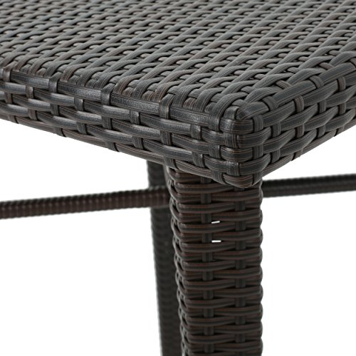 Dom Outdoor 32.5 Inch Square Multibrown Wicker Bar Table by Christopher Knight Home (Image #4)