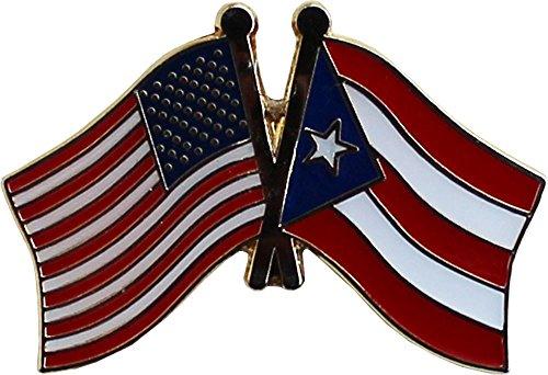 Flagline Puerto Rico - Friendship Lapel Pin ()