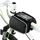 Cycling Frame Pannier Cell Phone Bag, WOTOW Bike Front Top Tube Touchscreen Saddle Bag Rack Mountain Road Bicycle Pack Double Pouch Mount Phone Bags Fit iPhone 6 / 6 Plus, 7 / 7 Plus Up To 5.7""