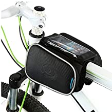"""Cycling Frame Pannier Cell Phone Bag, WOTOW Bike Front Top Tube Touchscreen Saddle Bag Rack Mountain Road Bicycle Pack Double Pouch Mount Phone Bags Fit iPhone 6 / 6 Plus, 7 / 7 Plus Up To 5.7"""""""