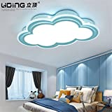Lilamins Children'S Room Ceiling Light Clouds Boys And Girls Remote Eye Creative Led LightingLighting for Living Room?Office , Bathroom, Kitchen, Hallway, Flush Ceiling Lights, 550350Mm
