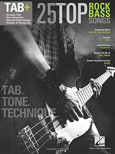 25 Top Rock Bass Songs: Tab. Tone. ()