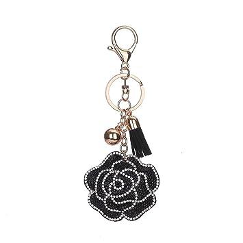 Amazon.com  vannert Diamond Rose Shape Keyring Double-Color Keychain for Women  Women s Bag Pendant Car Accessories Pendant  Sports   Outdoors 088c61b340