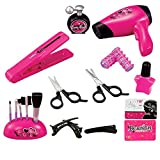 Little Girl Toys Pink Beauty Fashion Hair Salon Pretend Makeup Signature Vanity Play Set