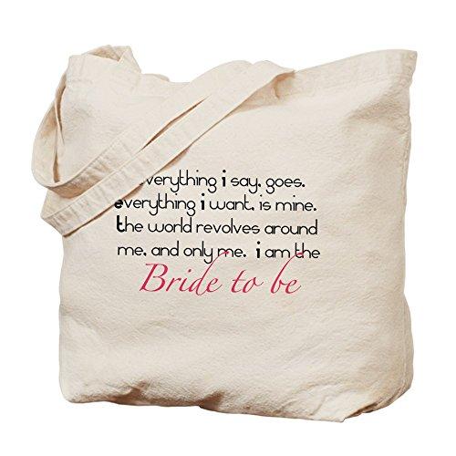 CafePress–Bride to Be–Gamuza de bolsa de lona bolsa, bolsa de la compra