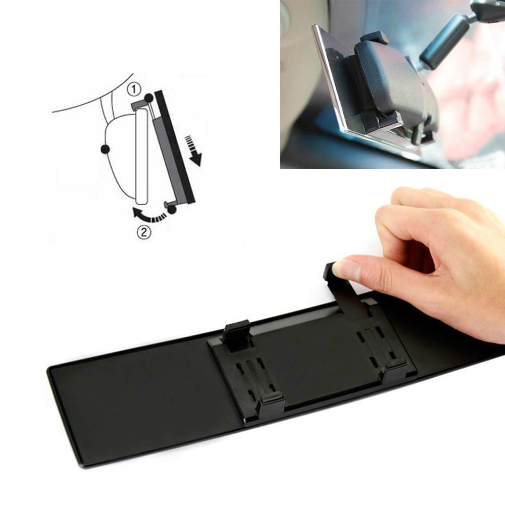 oT-Spot Auto Coche 300/mm de ancho Convexo Curva Interior Clip On Panoramic Espejo retrovisor con Transparente Tint