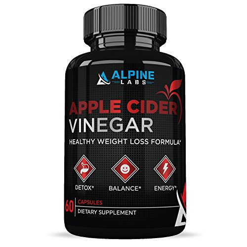 Apple Cider Vinegar Capsules :: Promotes Digestive Health:: Boosts Metabolism:: Encourages Weight Loss :: All-Natural :: 30 Day Supply:: Alpine Labs