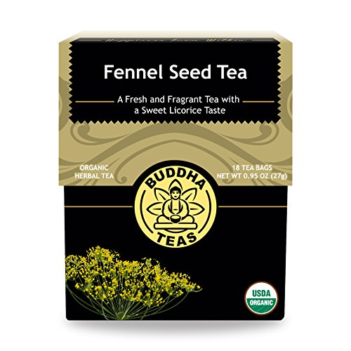 Organic Fennel Seed Tea - Kosher, Caffeine-Free, GMO-Free - 18 Bleach-Free Tea Bags - Fennel Tea Bags