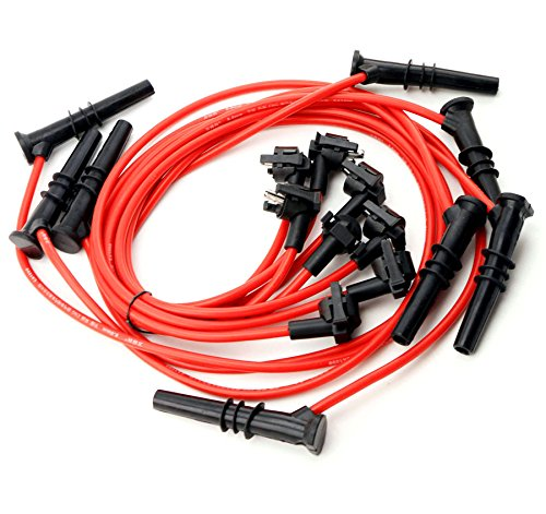 qkparts 533R 8,5 mm rendimiento Bujía Cables 91 - 99 Ford Lincoln Mercury 4.6L V8: Amazon.es: Coche y moto