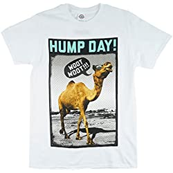 Hump Day Humor Camel Men's T-Shirt in White. S-2XL.