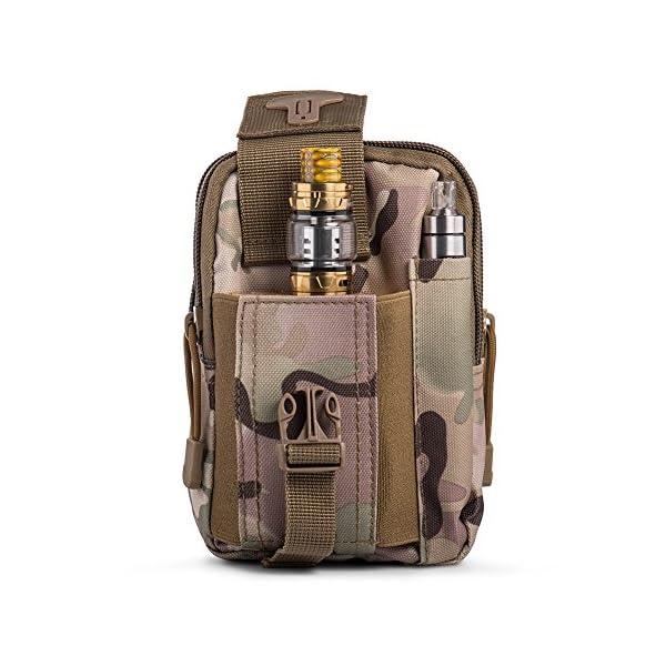Ecigdiy Tactical Molle Tasche Kompakte EDC Mehrzweck-Dienstprogramm Gadget Gürtel Gürteltasche mit Handyholster für…