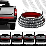Audew Truck Tailgate Strip Light Side Bed Light Strips Bar 4 Function 60 Inch Waterproof As Turn Signal, Parking, Brake, Reverse Lights for Truck Jeeps RV Ford Dodge Ram Chevy Silverado Chevrolet GMC