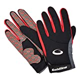 Men's Precision Curling Gloves: Black w red Large