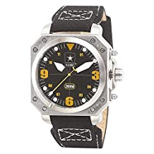 US Army Wrist Armor C4 Watch, Blk/Yellow Dial & Blk Canvas Strap