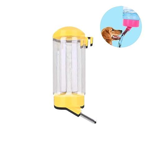 Botella de agua del animal doméstico 500ML que cuelga el dispensador de la bebida del goteo
