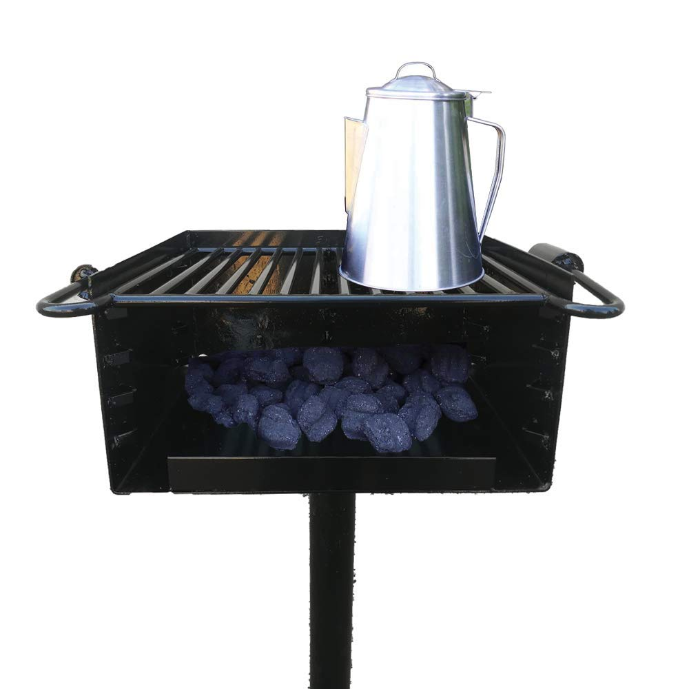 Single Post Park Style Charcoal Grill BBQ Outdoor Heavy Cooking Camping