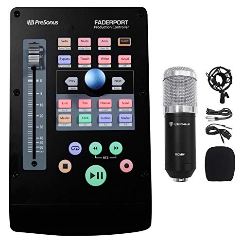 PRESONUS FADERPORT V2 USB DAW Control Surface Ableton Live/MCU/HUI+Microphone (Best Control Surface For Logic Pro X)
