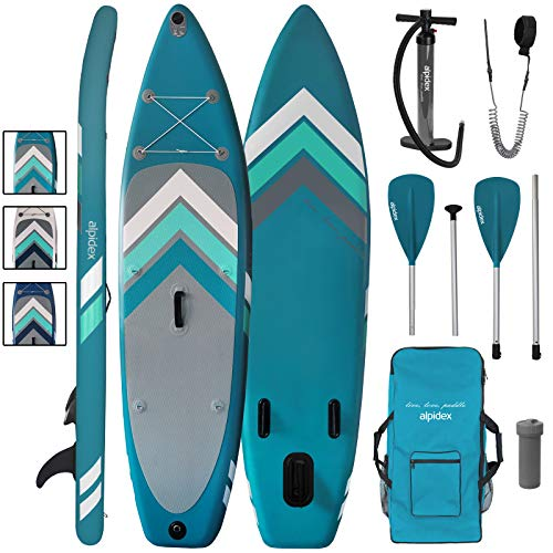 ALPIDEX Tabla Hinchable Surf Stand Up Paddle Board 305 x 76 x 15 cm ISUP Peso Máximo 110 kg Sup Ligero Estable Juego…