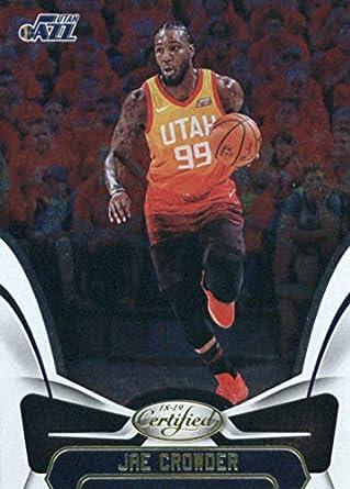 cheap for discount 727c1 1f386 Amazon.com: 2018-19 Panini Certified #55 Jae Crowder Utah ...