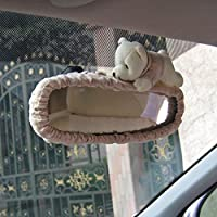 Tianmei Cute Cartoon Bear Doll Styling Car Interior Rear View Mirror Cover Automobiles Accessories Ornaments