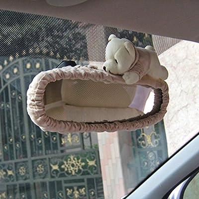 Tianmei Cute Cartoon Bear Doll Styling Car Interior Rear View Mirror Cover Automobiles Accessories Ornaments