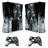 Designer Skin Sticker for Xbox 360 Slim Console with Two Wireless Controller Decals Call of Duty Modern Warfare 3