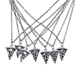Best Slice Necklaces - Lux Accessories Burnish Silver Best Friends Forever Pizza Review