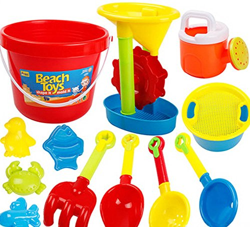 Kid's Beach Sand Toys Baths Pools Set 13PCS by Blancho Bedding