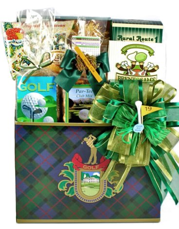 Fathers Day Gift Fore You | Golf Themed Gourmet Snack Food Gift (Golf Tournament Packages)