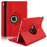 PC Hardware : iPad Pro 12.9 Inch Cover Case,TechCode 360 Degrees Rotating Magnetic PU Leather Book Style Stand Smart Case Flip Folio Cover for Apple iPad Pro 12.9 Inch 2017 Tablet (iPad Pro 12.9 2017, Red)