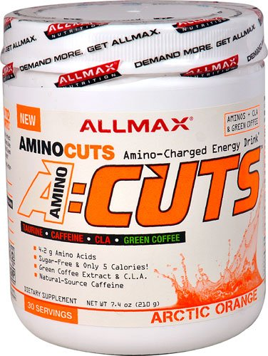 ALLMAX Nutrition A-CutsT Amino-Charged Energy Drink Arctic Orange -- 30 Servings - 2PC by ALLMAX NUTRITION