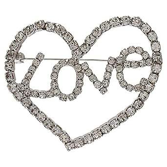 Venus Accessories Silver Wedding Brooche For Women