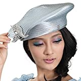 June's Young Fashion Beret Army Style Hats Women Hat (Silver Grey)