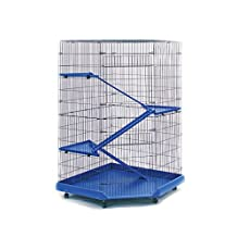 Prevue Pet Products 479 Ferret Corner Cage, Blue/Black