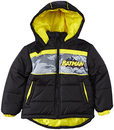 Warner Bros Batman Puffer (Toddler) - Black-2T