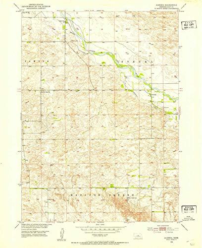 (YellowMaps Almeria NE topo map, 1:24000 Scale, 7.5 X 7.5 Minute, Historical, 1952, Updated 1954, 26.9 x 21.9 in - Tyvek)