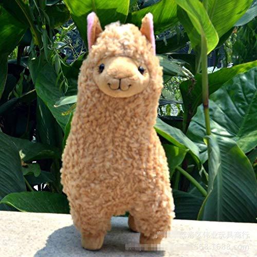 JEWH White Alpaca Llama Plush Toy Doll Animal