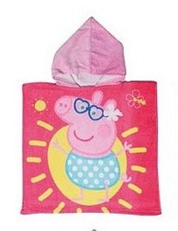 Peppa Wutz Peppa Pig Poncho Handtuch Trockentuch George Baumwolle 50 x 100 cm