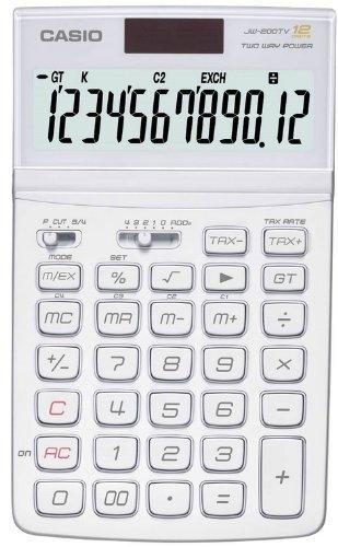New casio basic calculator jw-200tv-bk(jw200tv) black   ebay.