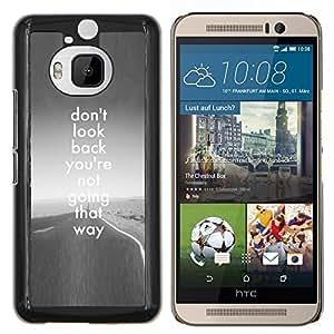 EJOOY---Cubierta de la caja de protección para la piel dura ** HTC One M9Plus M9+ M9 Plus ** --no mires atrás libertad camino gris inspirador