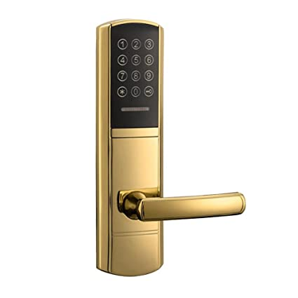 Cerradura electrónica código de la puerta, 2 tarjetas de identificación, 2 teclas mecánicas pantalla