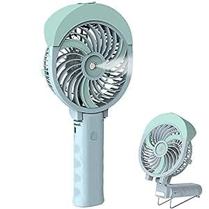 Handheld Misting Fan, HandFan Mini Hand Fan/Small Desk Fan Folding Change Rechargeable Battery/USB Operated Electric Fan Portable Cooling Fan personal Spray Fan with Cooling Humidifier/mister