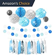 THE PERFECT PARTY Premium Blue Party Decorations Supplies Kit for Birthday, First Baby Boy Shower, Bachelorette, Bridal & Wedding events