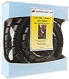 Pre-Cut Spiral Wrap Hose Protector, 2.0'' OD, 10' Length, Black