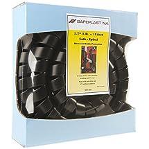 "Pre-Cut Spiral Wrap Hose Protector, 2.0"" OD, 10' Length, Black"