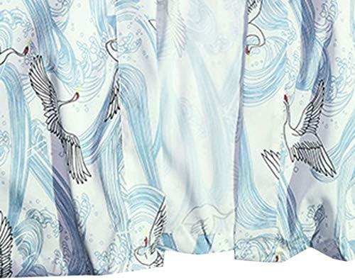 Aliciga 浴衣 メンズ カーディガン 夏服 魚 鶴柄 和風 薄手 男女兼用 着物 日焼け止め服 UV対策 原宿風 ゆったり 長袖 トップス 個性 カジュアル ゆかた ストリート系 温泉 旅行 花火大会 余興 プレゼント 春 秋 イベント