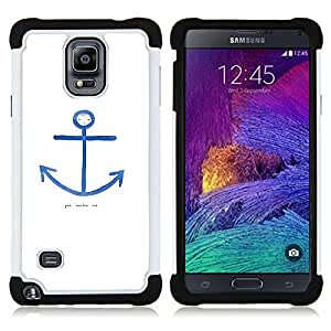 For Samsung Galaxy Note 4 SM-N910 N910 - quote seaman white blue sailor Dual Layer caso de Shell HUELGA Impacto pata de cabra con im??genes gr??ficas Steam - Funny Shop -