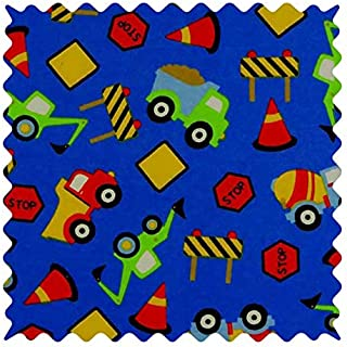 product image for SheetWorld 100% Cotton Flannel Fabric by The Yard, Construction Zone, 36 x 44